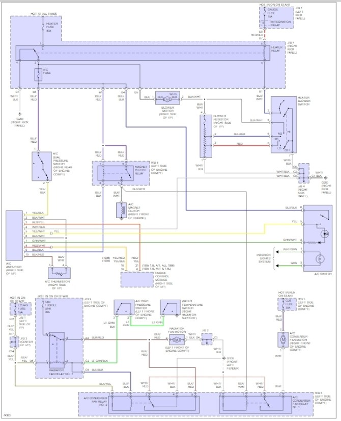 wiring diagram of ac amplifier do the 16l and 18l have