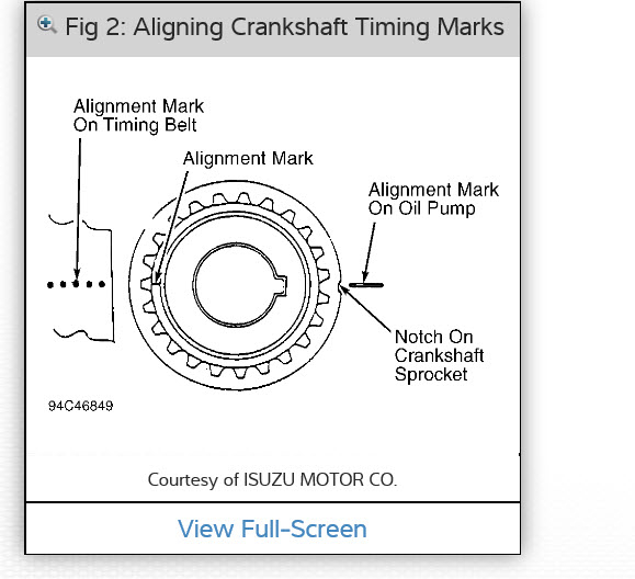 Camshaft Marks I Need To Know The Positioning For The