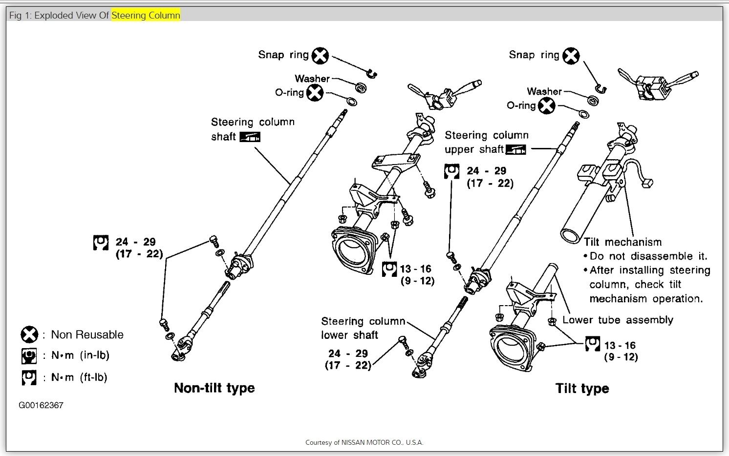 Steering Lock Stuck Key Won T Turn 98 Frontier