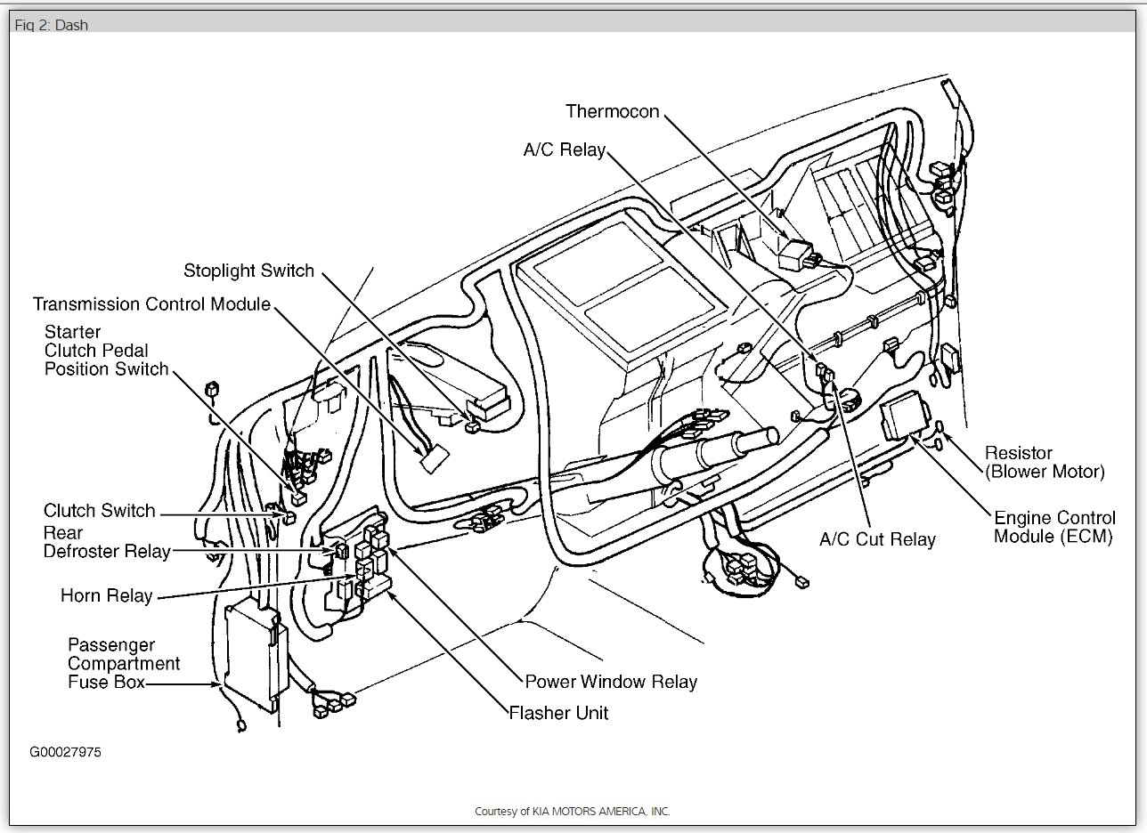Circuit Electric For Guide Kia Sportage A C