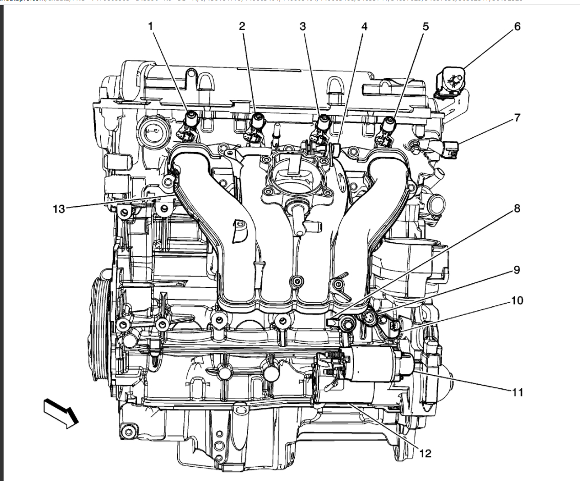 duramax sel egr valve location