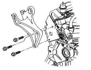 Front Passenger Side Engine Mount Bracket Removal