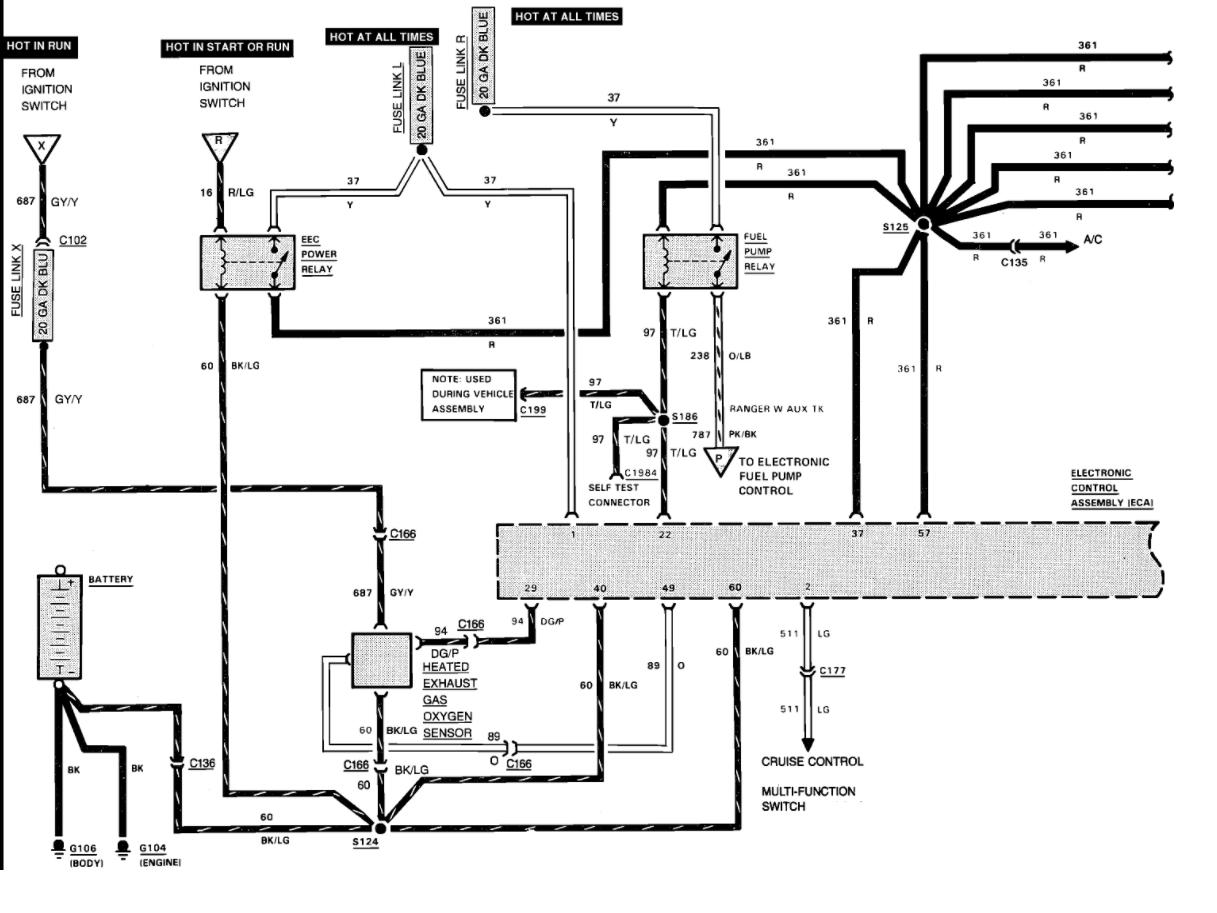 Wires To Fuel Pump I Have Ranger 4x4 2 9l V6 Engine I Am