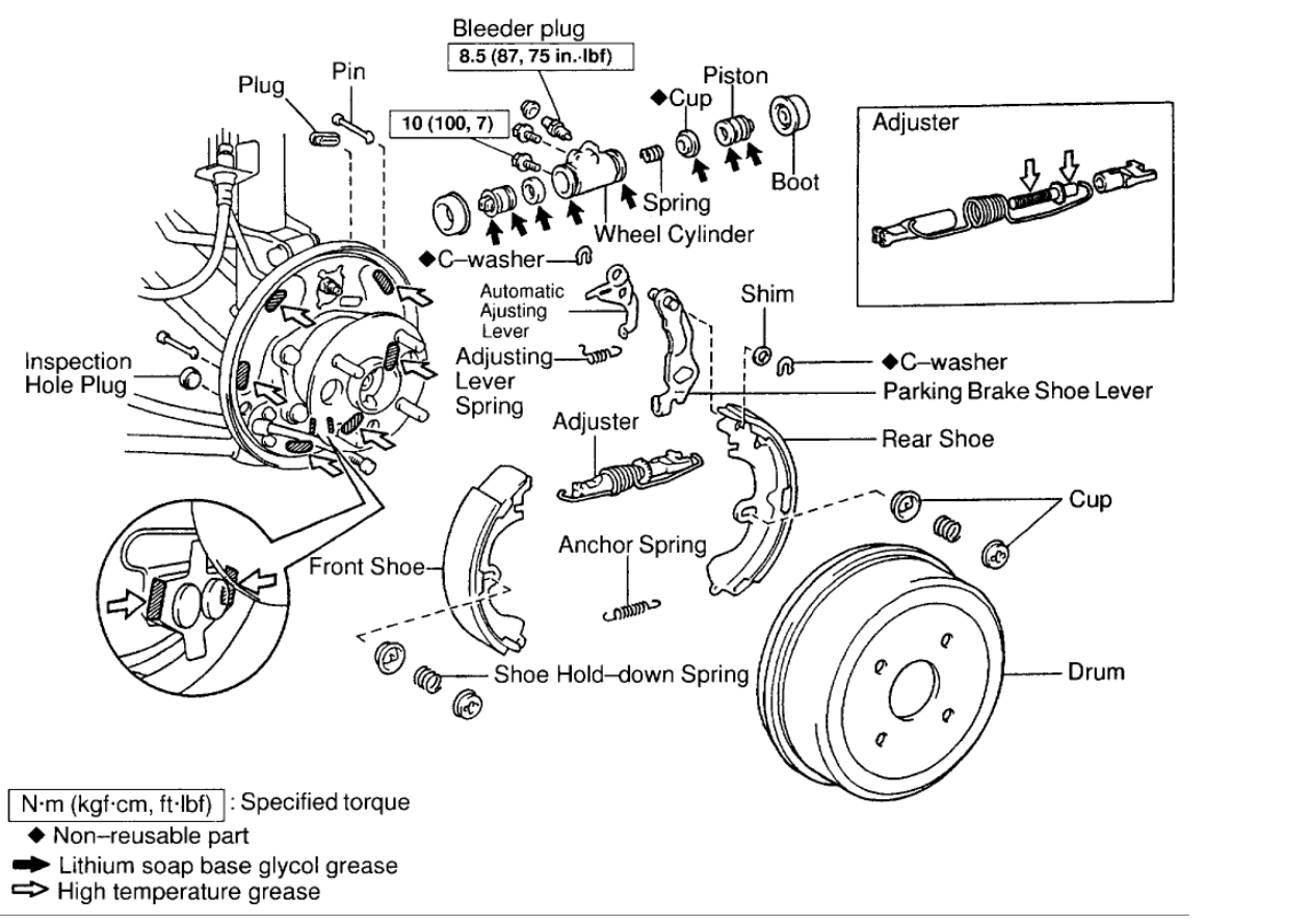 2006 Toyota Corolla Undercarriage Diagram