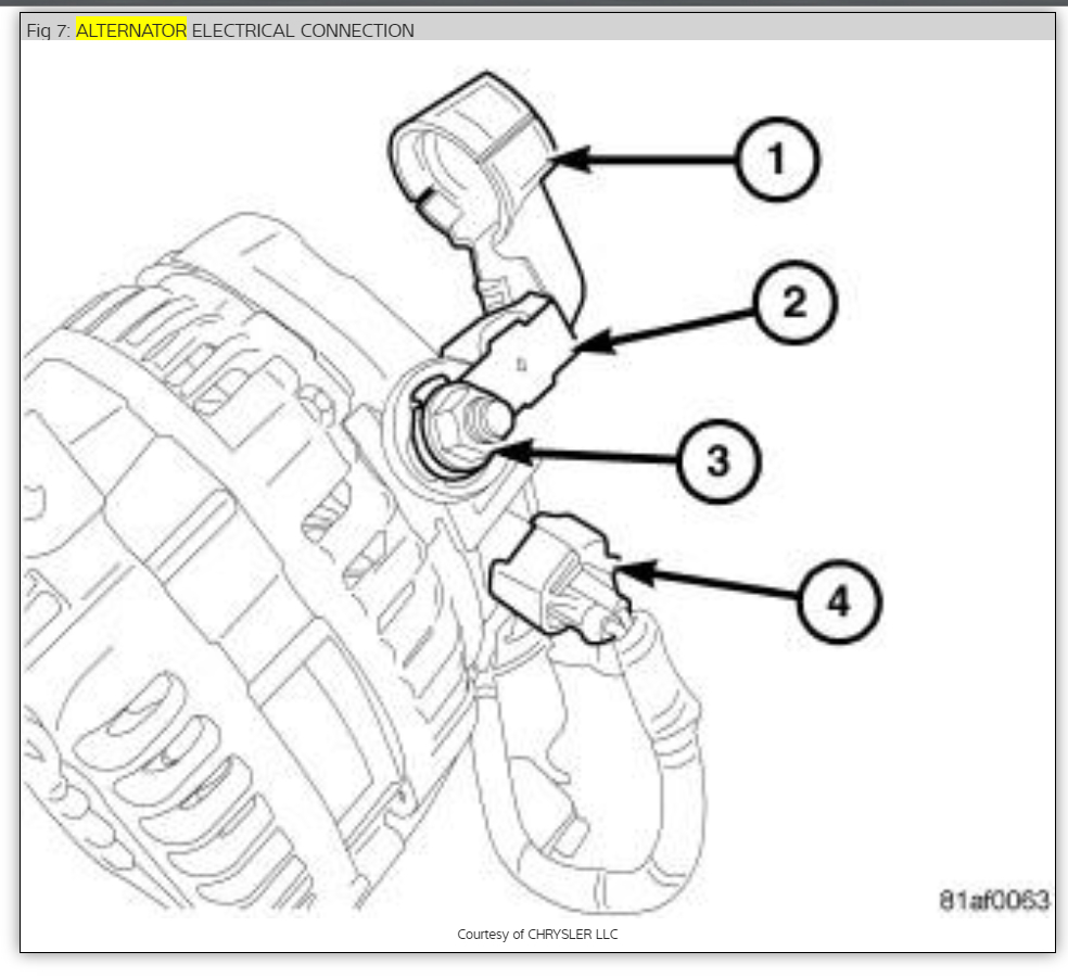 Chrysler 1 Wire Alternator Wiring Diagram