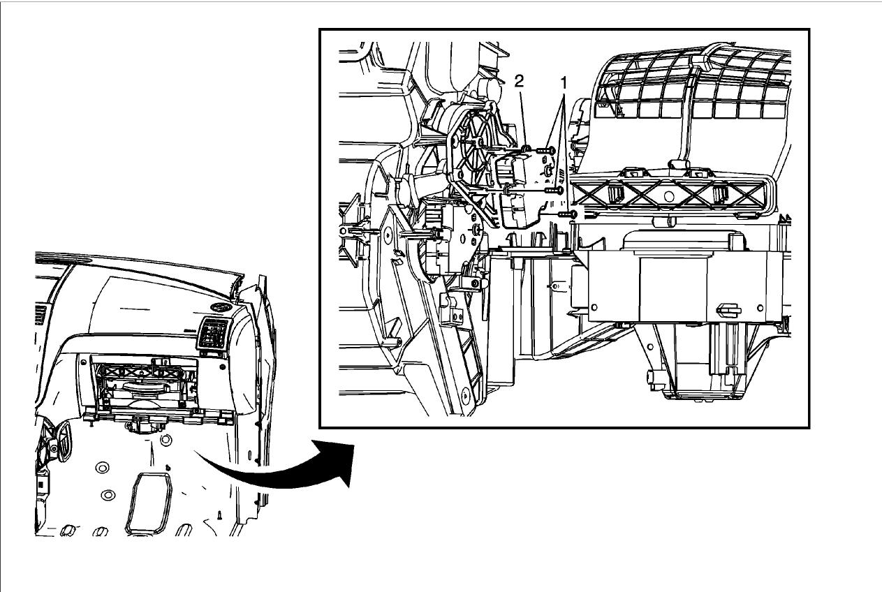 Blend Door Actuator Passenger How To Install Replacement