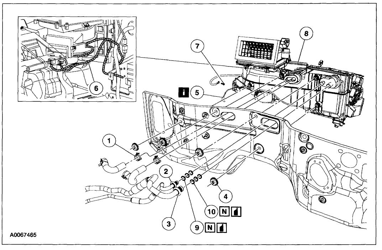 2003 ford explorer heater diagram details