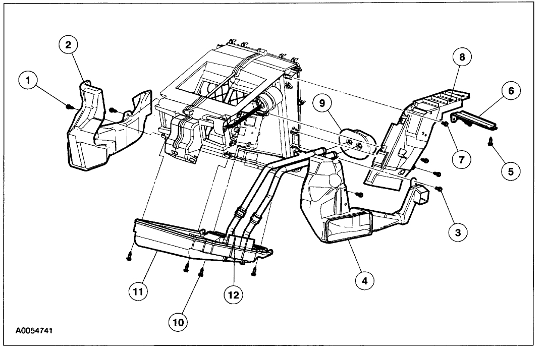 2007 Buick Lucerne Blend Door Actuator Location