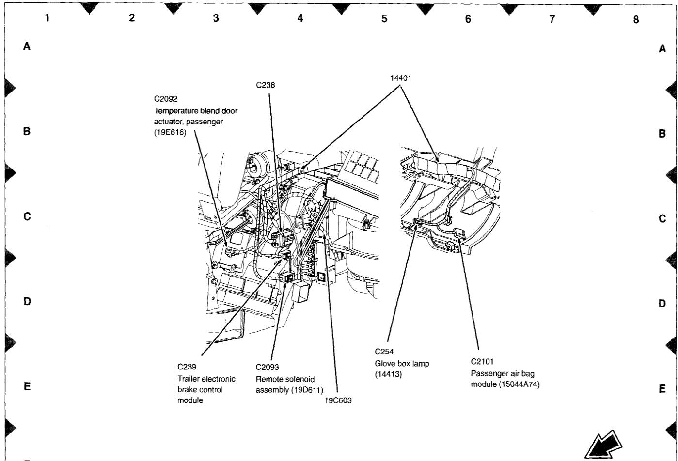 Mercury Mountaineer Blend Door Actuator Location
