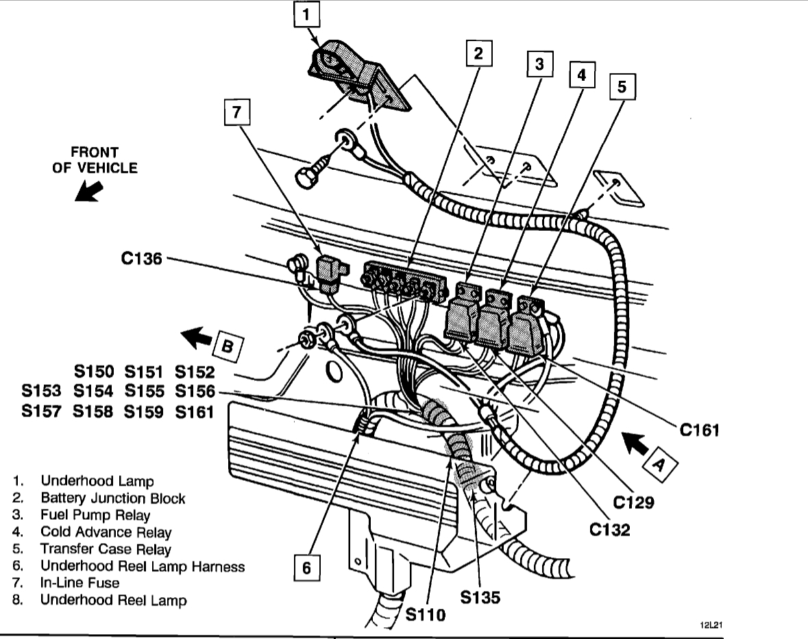 Where Is The Fuel Pump Relay Electrical Problem V8 Four Wheel