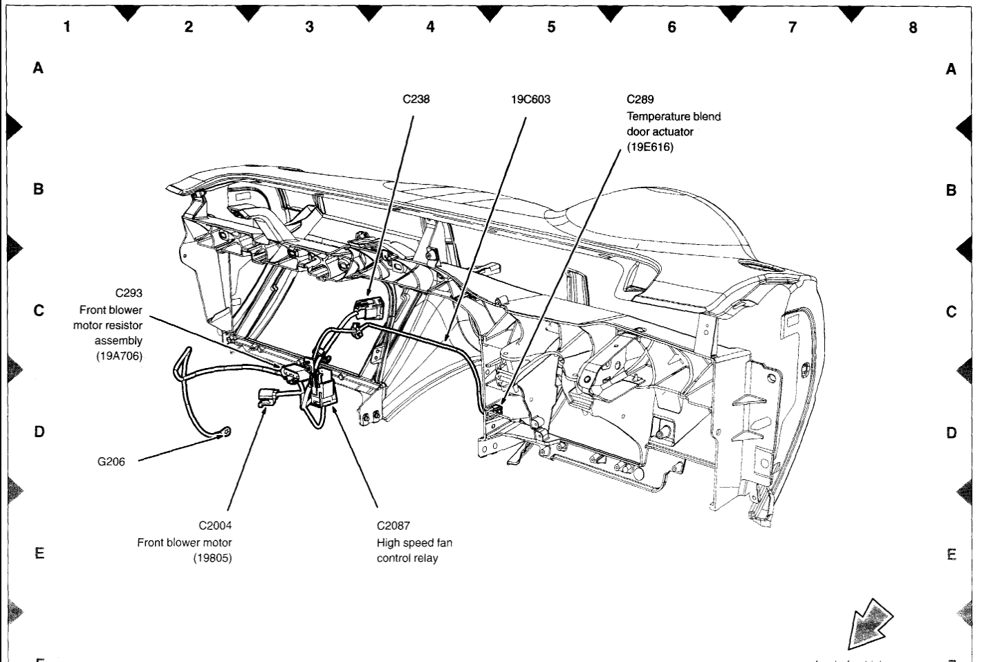 Ford Explorer Blend Door Actuator Diagram