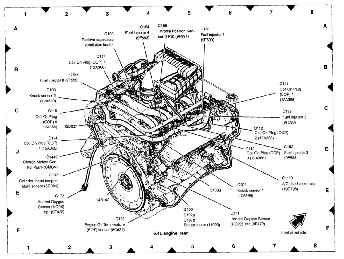 Diagram Of Engine Ford Expedition 5 4