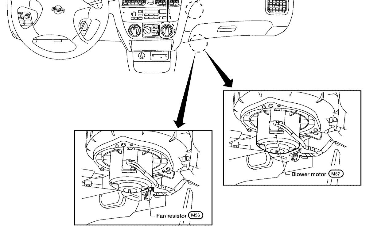 Blower Motor Resistor I M Trying To Locate Where The