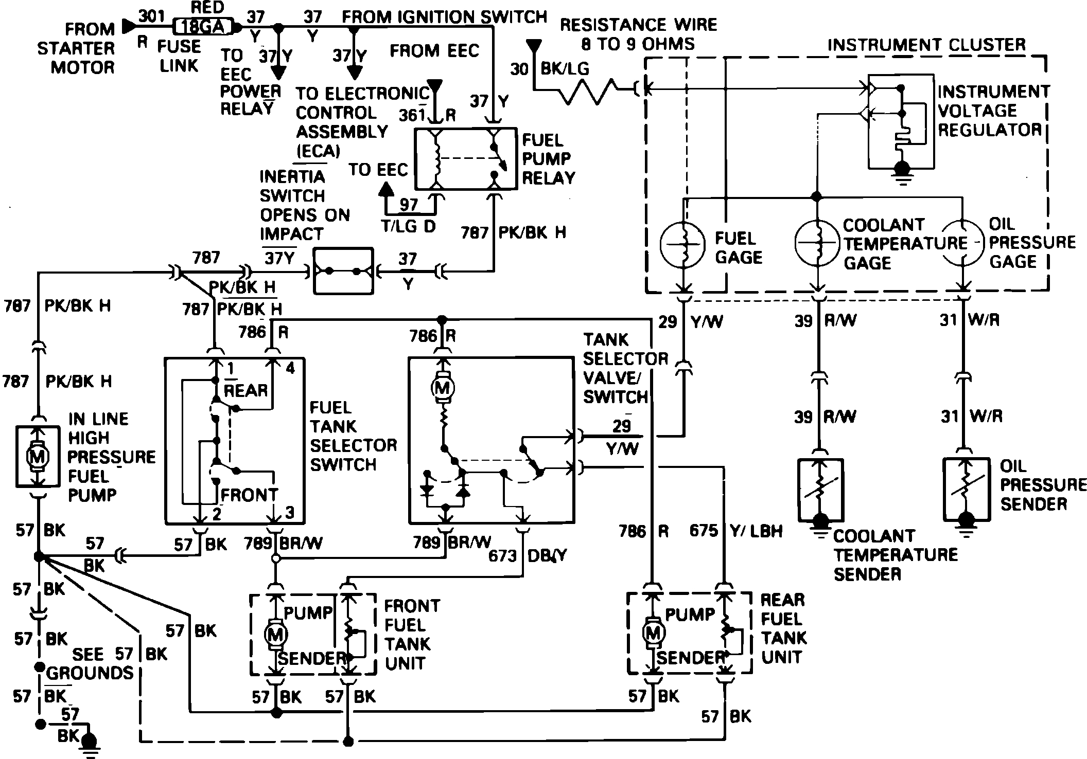 Dual Fuel Pump Schematic