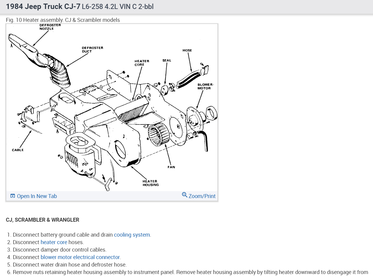 Jeep Cj7 Heater Wiring Diagram