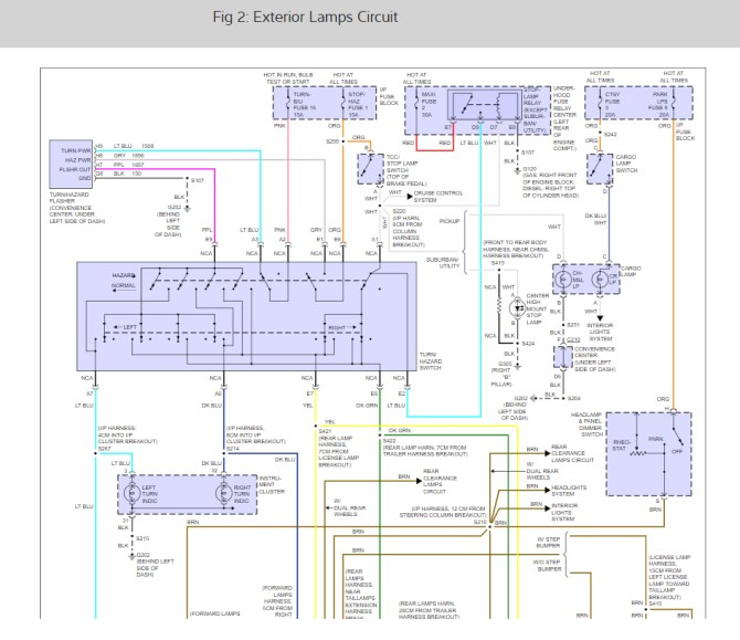 99 tahoe brake light wiring diagram  electrical system