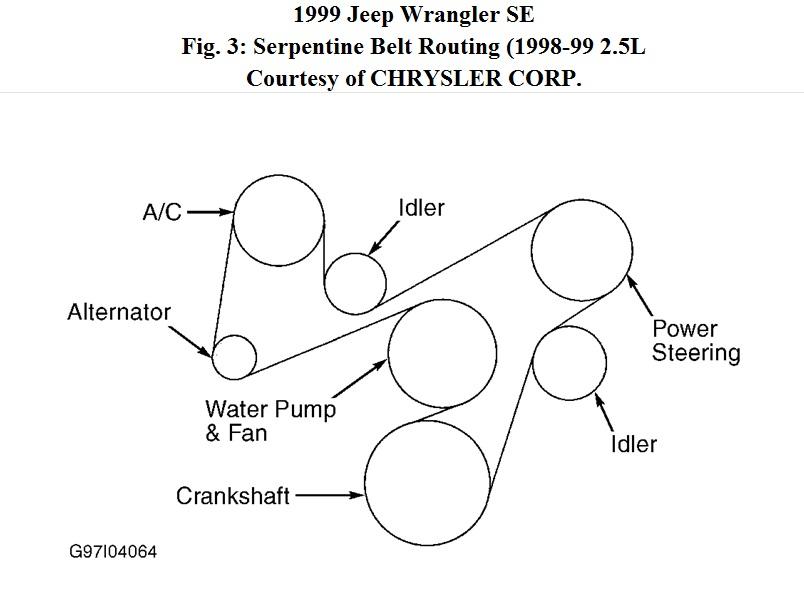 1999 Prizm Serpentine Belt Diagram