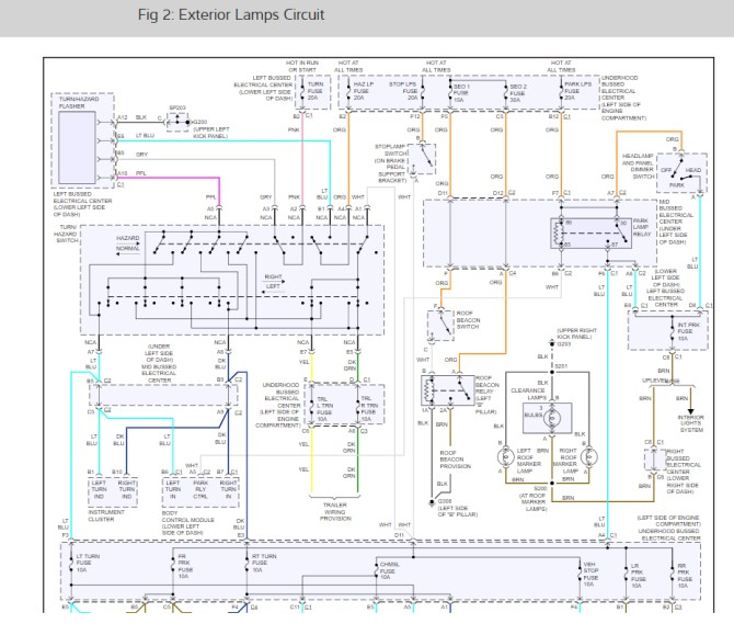 turn signals wiring diagram please when i use the turn