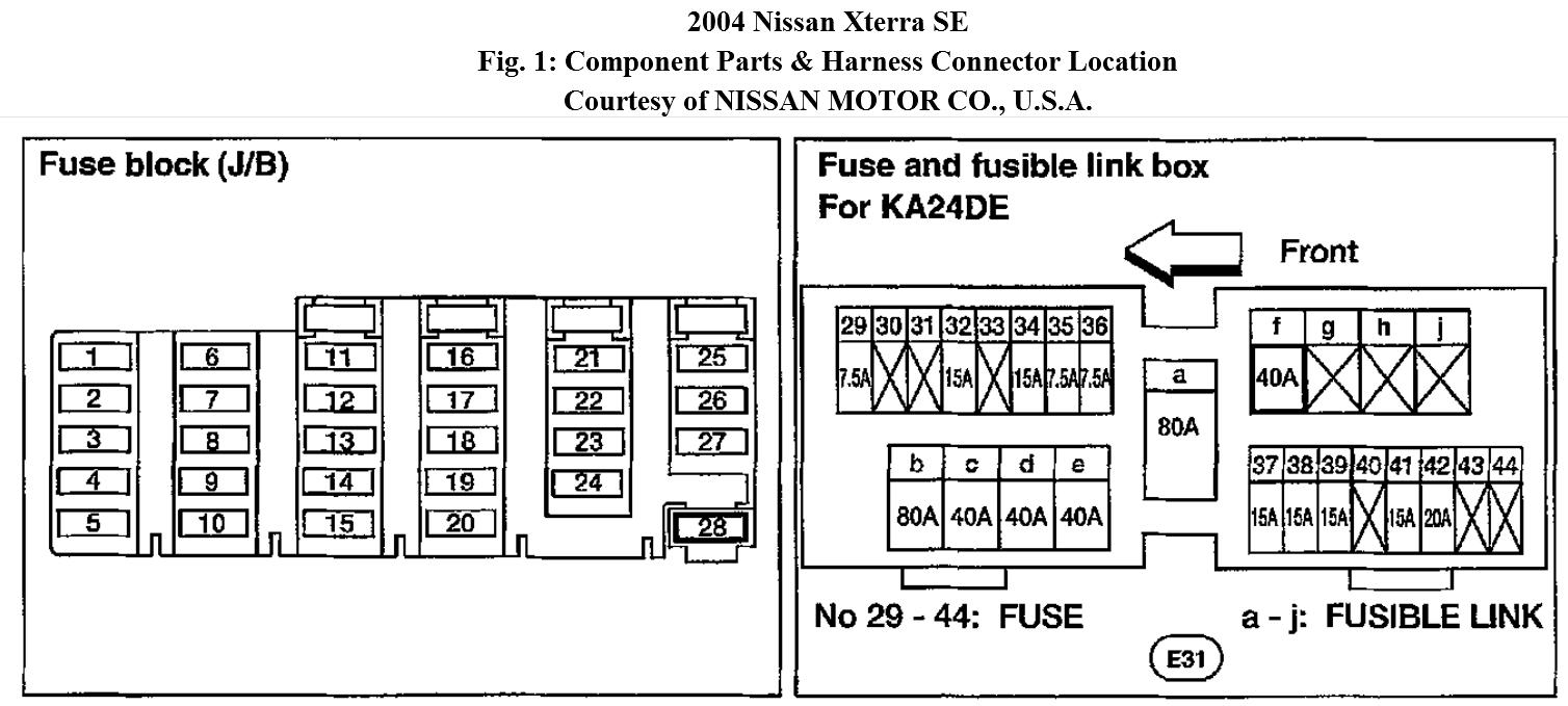 1998 Nissan Frontier Radio Wiring Diagram