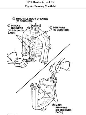 1999 Honda Accord Upper Intake Manifold Diagram: Engine