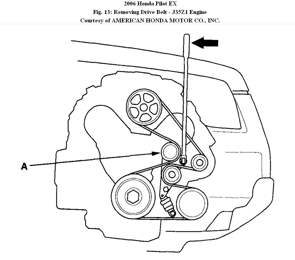 Honda Element Serpentine Belt Diagram