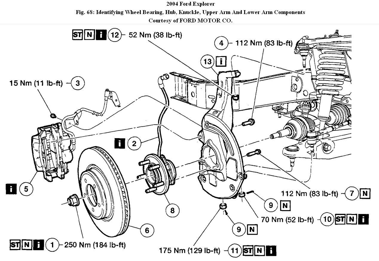 Service Manual Diagram To Change Wheel Bearing On A