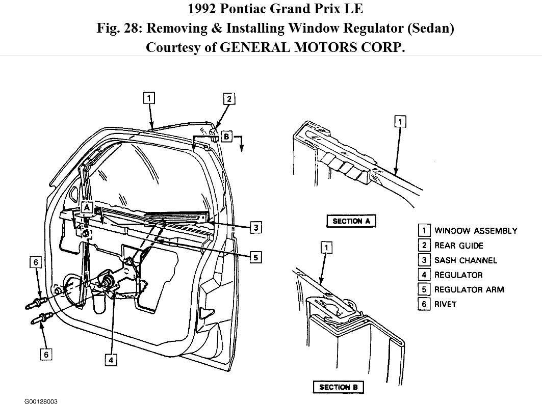Question On Power Window For Pontiac Grand Prix Le 3 1