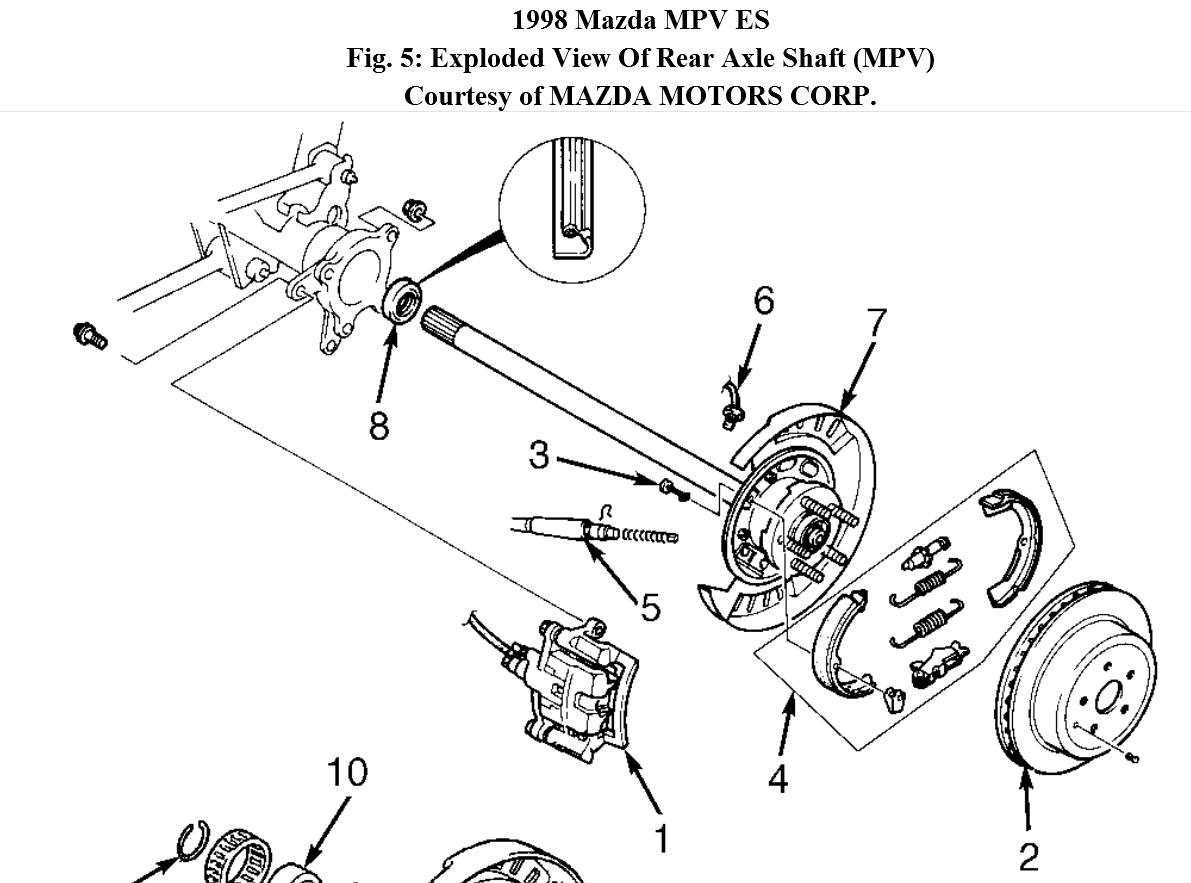 Service Manual Mazda Mpv Rear Differential Axle Seal Replace