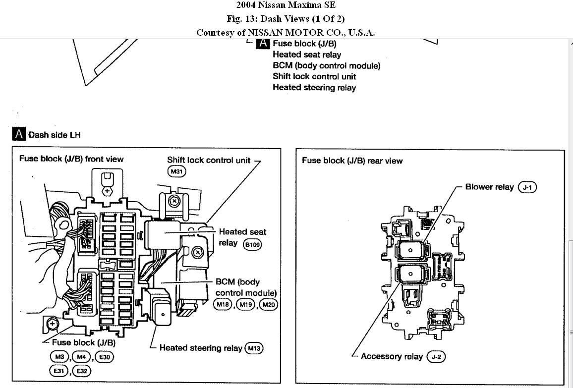 Nissan Maxima Fuse Box Diagram Pictures To Pin On