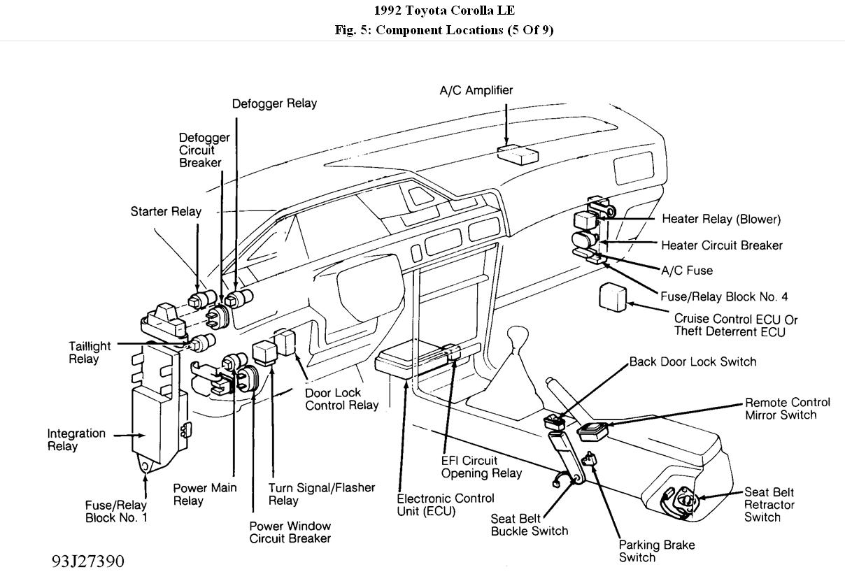Toyota Avalon Flasher Location