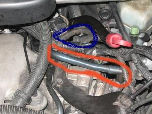 2000 Chevy Venture Vacuum Hose: Ok the Hose on the Red