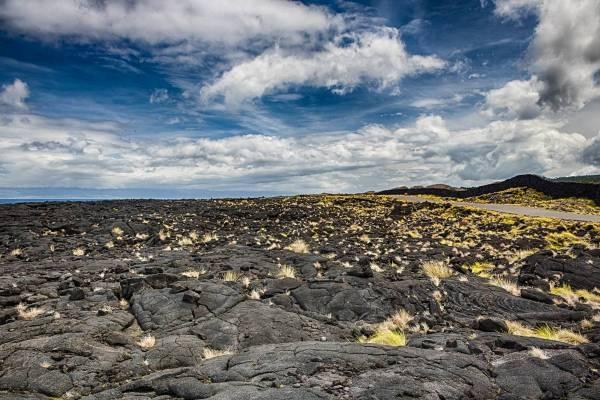 Lavafelder auf der Azoren Insel Pico