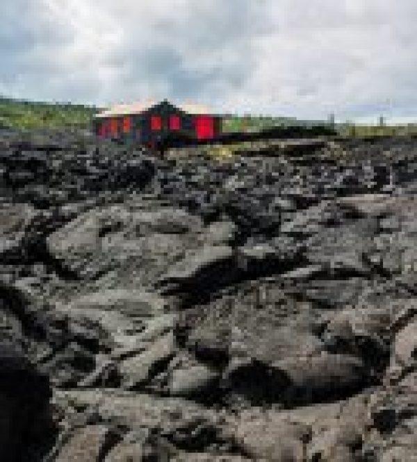 Lavafeld auf der Azoren Insel Pico