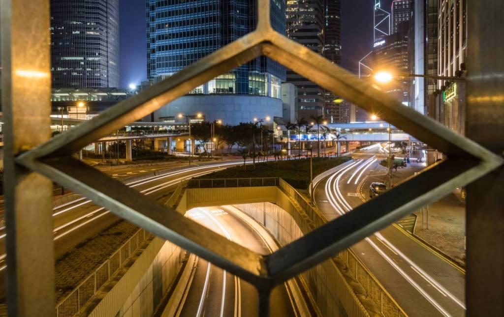 Hongkong Streets bei Nacht