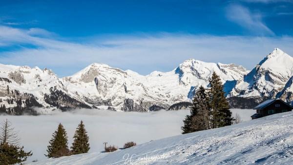 Alpstein und Säntis im Nebel