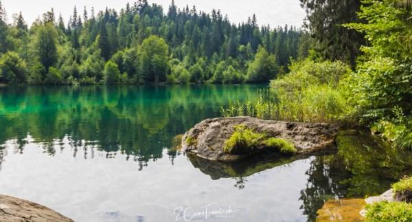 Spiegelung im Crestasee