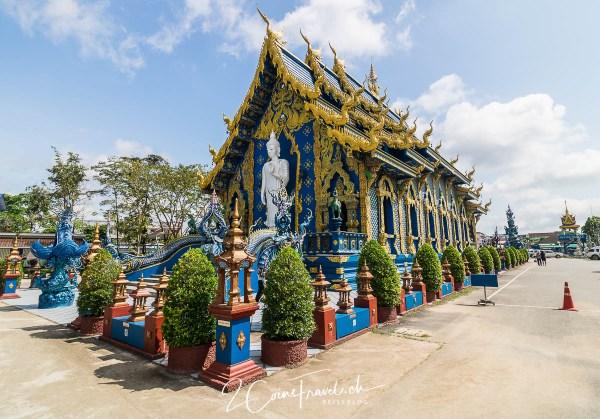 Blick auf den blauen Tempel