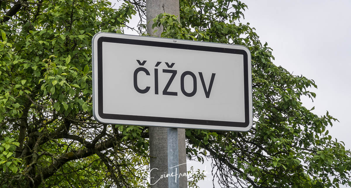 Ortsschild Cizov