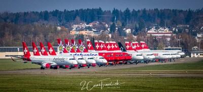 Dübendorf Flugplatz Swiss Flotte