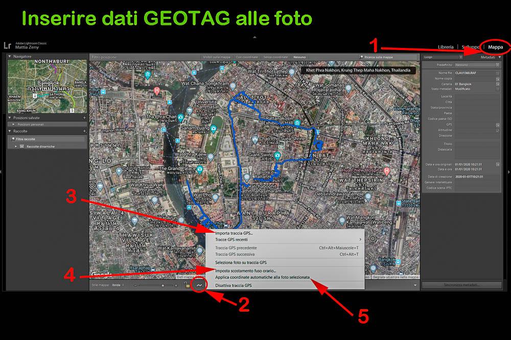 Come usare Lightroom geotag 2 Cuori in Viaggio