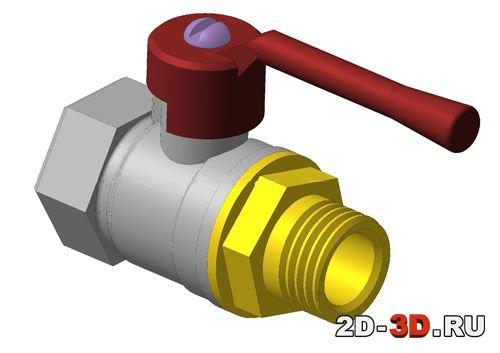 Шаровый кран 3D-модель и чертежи с деталировкой и ...