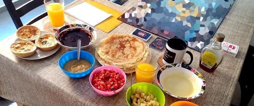 Desayuno con crepes