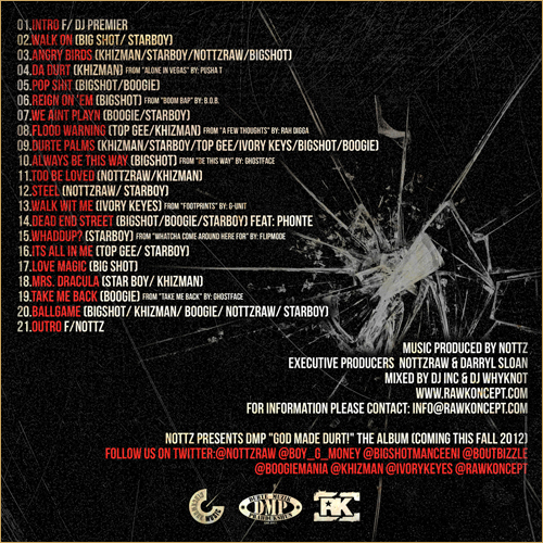Nottz Presents D.M.P. back cover