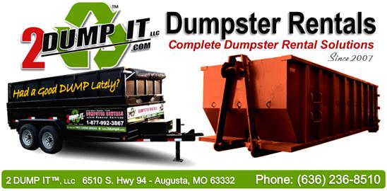 2 DUMP IT Dumpster Rentals Logo