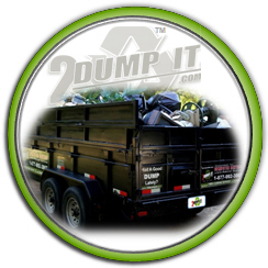 Dumpster Loaded and Ready for Disposal