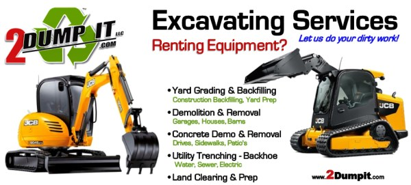 Excavating Contractor, Demolition, Grading, Land Clearing