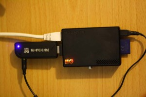 Raspberry Pi with a RTL SDR usb stick connected