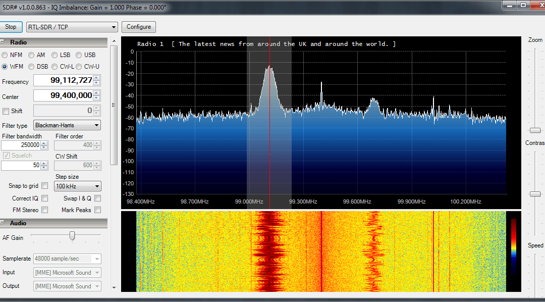 Stream RTL-SDR IQ data over a network using a Raspberry Pi & RTL_TCP