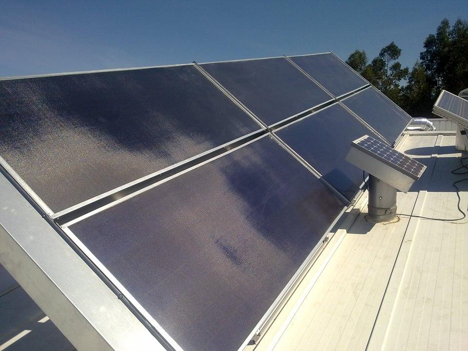 Panneau solaire thermique air/air