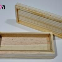 Caja de madera para hacer turrón con Thermomix